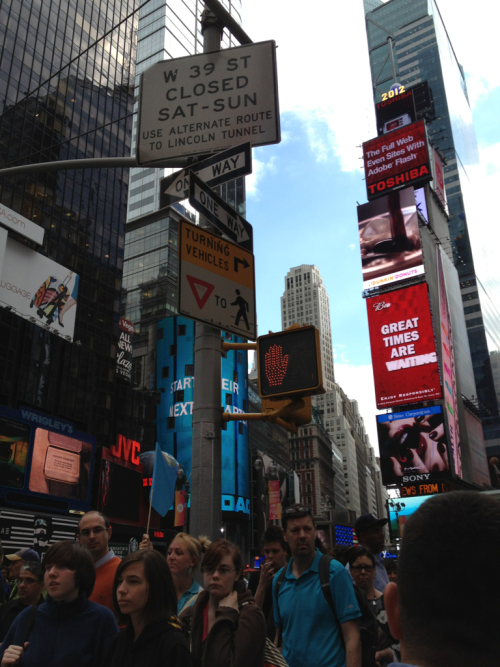 Times square at New York! Things. Are. Happening. Here.