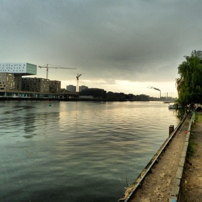 Sunrise over the Spree, Kreuzberg, Berlin (Taken with Instagram)