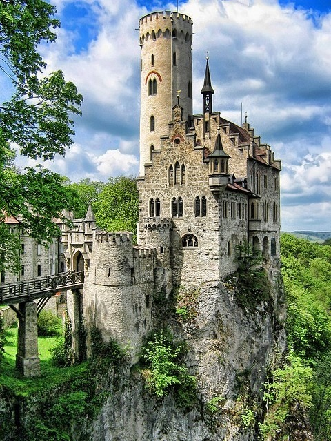 "save999things:  #63. Lichtenstein Castle ""Do not worry if you have built your castles in the air. They are where they should be. Now put the foundations under them."" Henry David Thoreau"