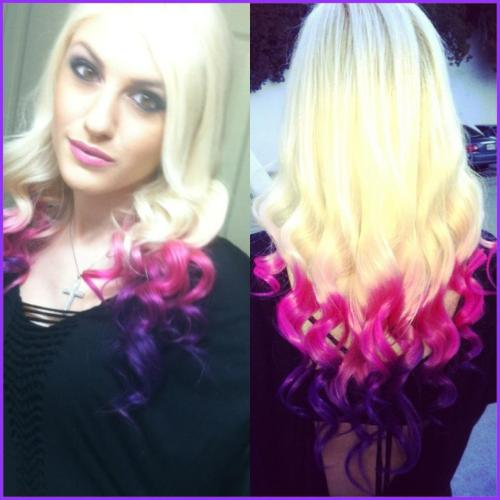 """my version of ombre (:"" Awesome, thanks for sharing!"