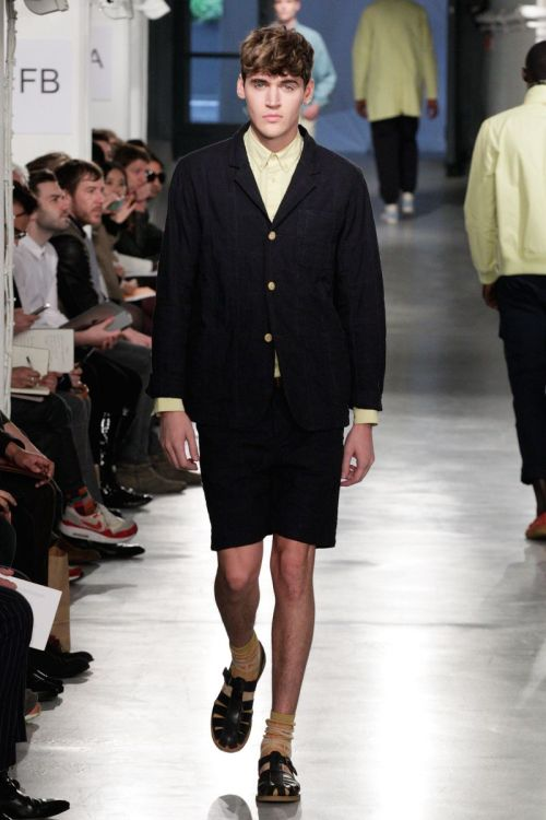 Isaac Carew (Nevs Models) for YMC SS13 during London Collections Men