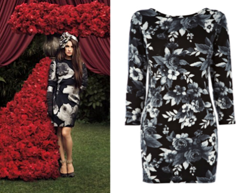 At least £1,000 less than the original Lea wore, this is a bargain! Floral Body Con Dress £15.00