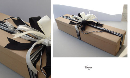 Stylish Gift Wrapping Black/White