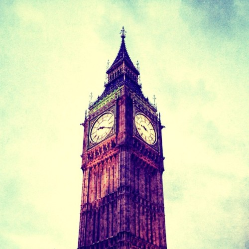 Walked passed Big Ben last night on the way to see Greg Proops at the big purple E4 UdderBelly Festival. (Taken with Instagram)