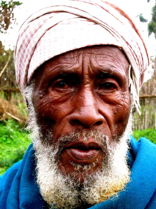 Kimo is a 100+ year old mountain man who tells stories of hunting Nyala by horseback and spear in the old days while fighting off the Italians.  His secret to longevity is following an animal based diet: meat, milk, and butter.  He has lived in the same area since his birth, about 40 kilometers from Dodola in the Bale mountains.