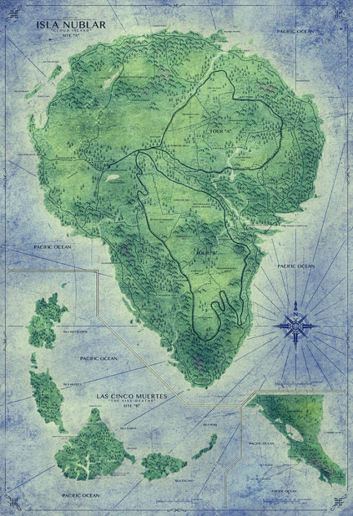starmeviolet:  Jurassic Park Map     I want to go to there. OK, maybe not.