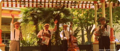 The Ellis Island Boys of DCA! they're extremely talented and entertaining. It's nice to be able to relax, grab some lunch and sit and enjoy their music for a little while.