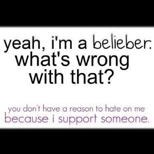 =]just-in-biebeer:  I love this. This is so TRUE. #justinbieber #belieber #belieberforever #proud #swag #hate (Taken with Instagram)