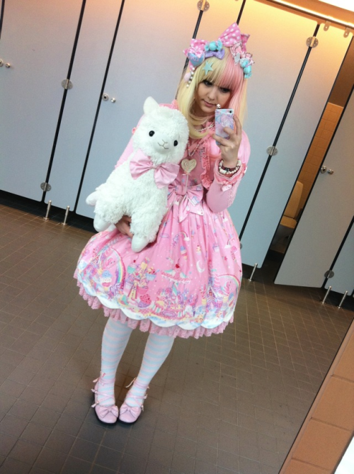 Last day's outfit ~ I love my alpaca ;3;