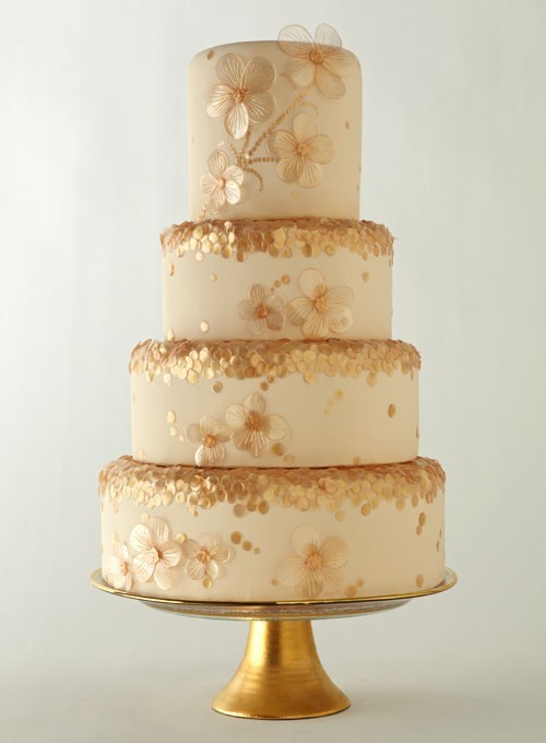 ❤❤ Gold wedding cake inspiration