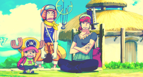 Zoro, Ussop & Chopper in Strong World Edit by ♣