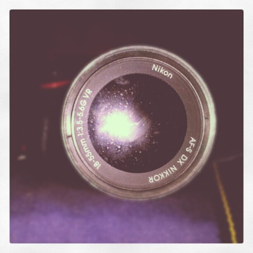 «Did you know that my camera had a galaxy hidden within it?» #dslr #camera #nikon #d5100 #dof #galaxy #stars #lens (Taken with Instagram)