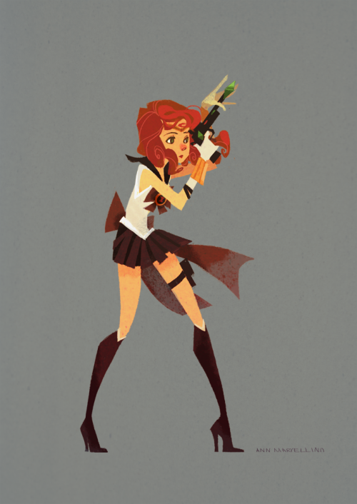 annmarcellino:  Sailor Black Widow had to bedazzle her gun before joining the Sailor Avengers.