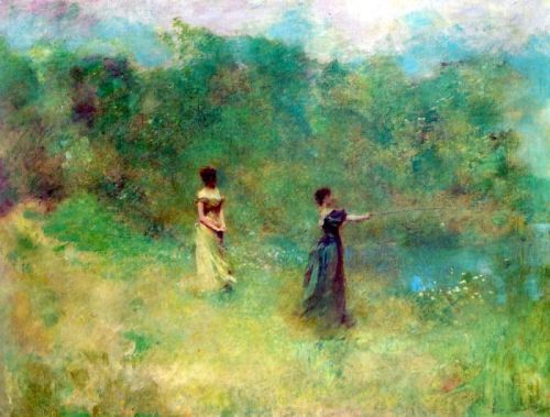 artandopinion:  Summer circa 1890 Thomas Wilmer Dewing