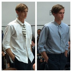 Tucked ties at Margaret Howell #londoncollections #attheshows  (Taken with Instagram)