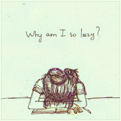 istalkfashion:  Why am I so lazy? #graphics #text  (Taken with Instagram)