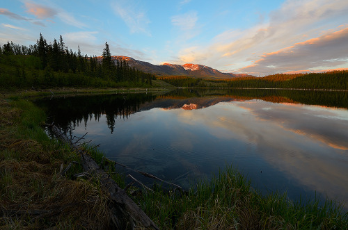 theworldwelivein:  Summer Evening on Hidden Lake, Yukon, California © kdee64
