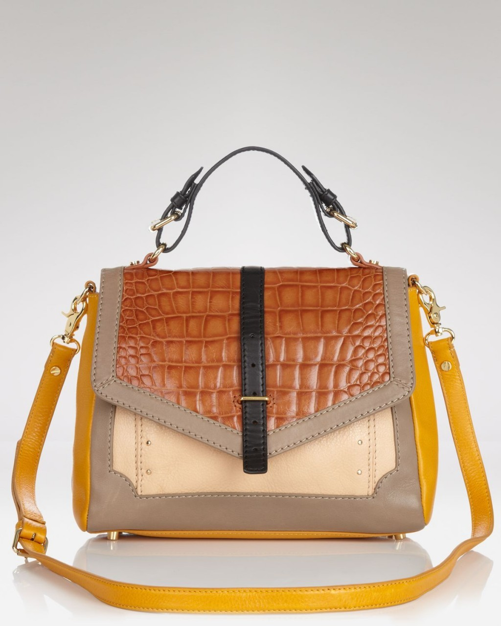 "Tory Burch - ""Crocodile Colorblock Satchel"" (2012) aMUSEme…Debutante."