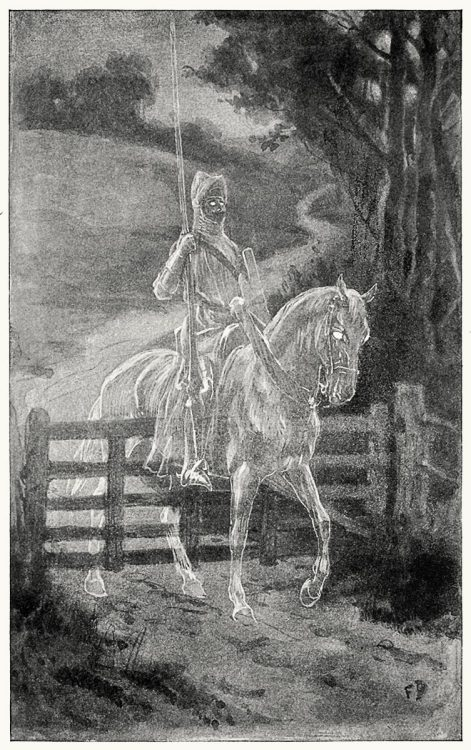 oldbookillustrations:  Rode through closed gates and even stone walls. Frank Dadd, from Old Christmas, by Washington Irving, New York, London, 1916. (Source: archive.org)