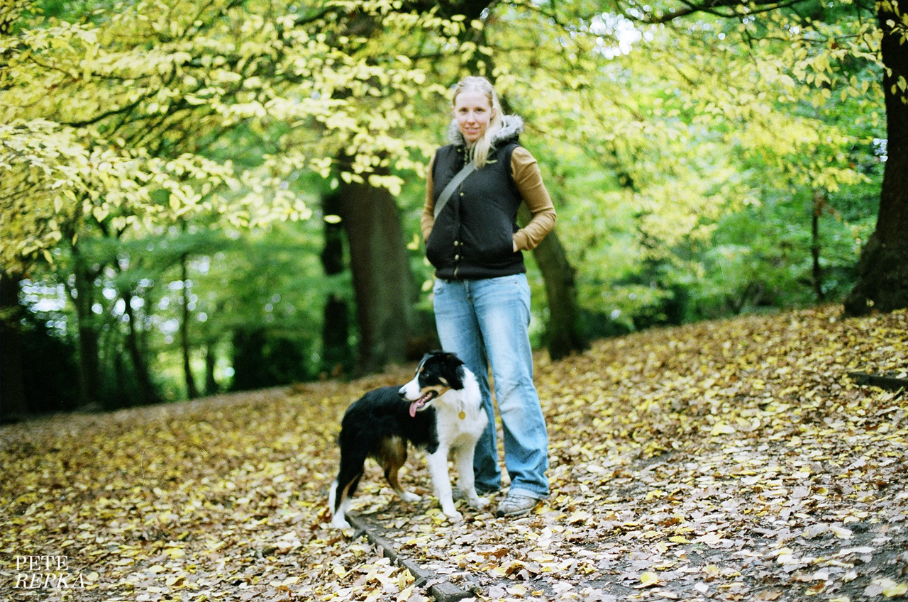Bodhi & Lou.Queens Woods, North London.