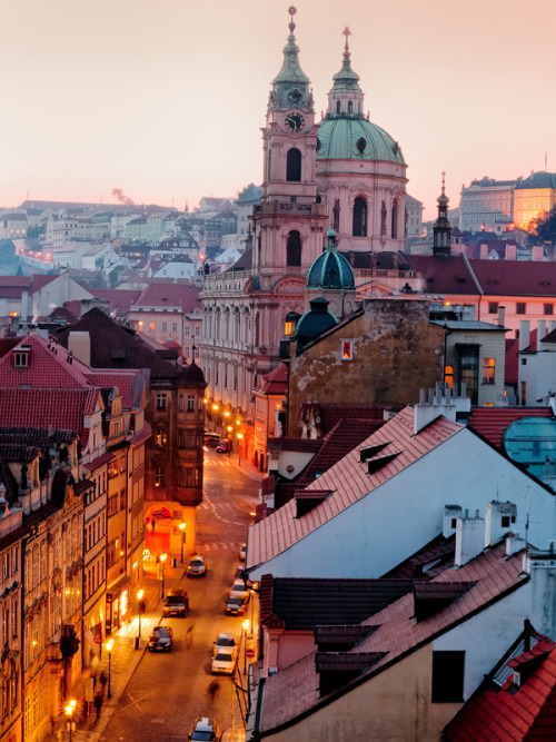 fornicating:  The Czech Republic - Prague: Evening Pastels by John & Tina Reid