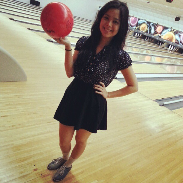 Bowling with the family! Love my top by @BlackSheepPHL :) (Taken with Instagram)