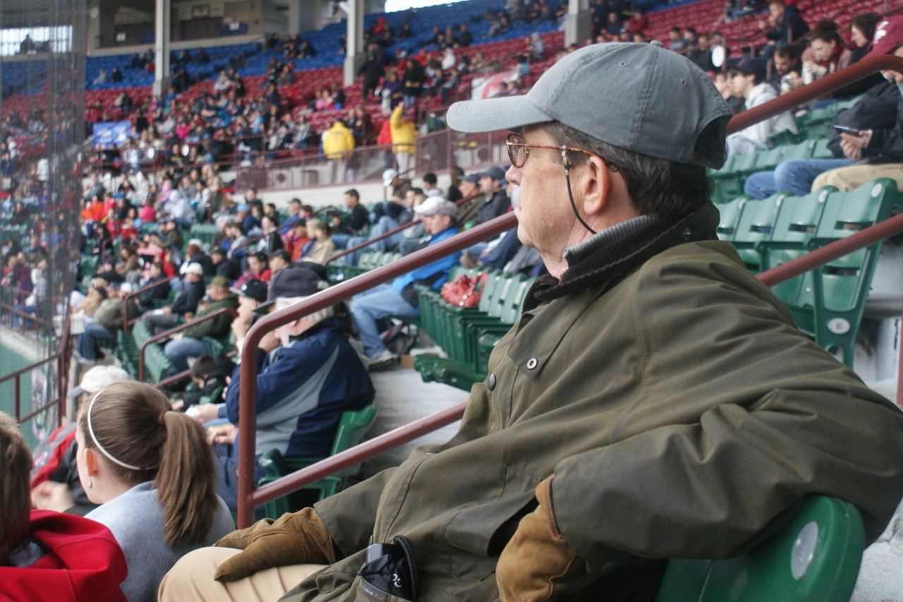 My Dad.  Happy Father's Day!  Taken at McCoy Stadium- home of the Paw Sox. #Barbour