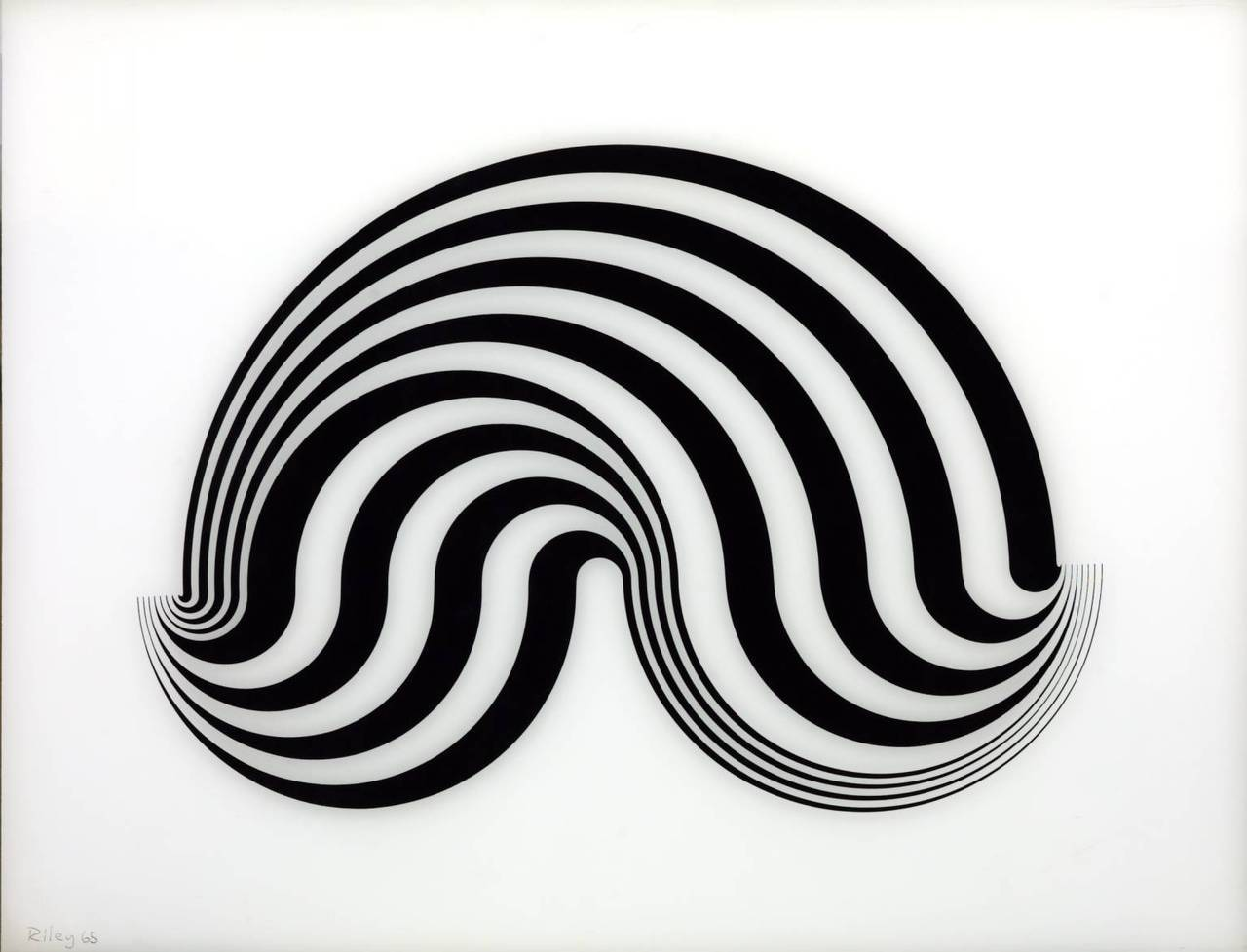 Bridget Riley - Fragment 5/8, 1965. Screenprint on perspex  Follow velcro: http://www.velcromag.com http://www.facebook.com/velcromag
