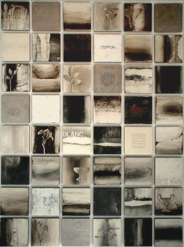 iamjapanese:  Kandy Lozano Liaison 2010 encaustic on panel ©2012 Kandy Lozano