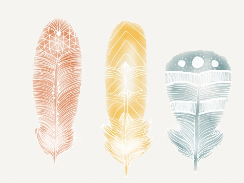 madewithpaper:  Really dig this intricate feather detailing by Tara Margarita.