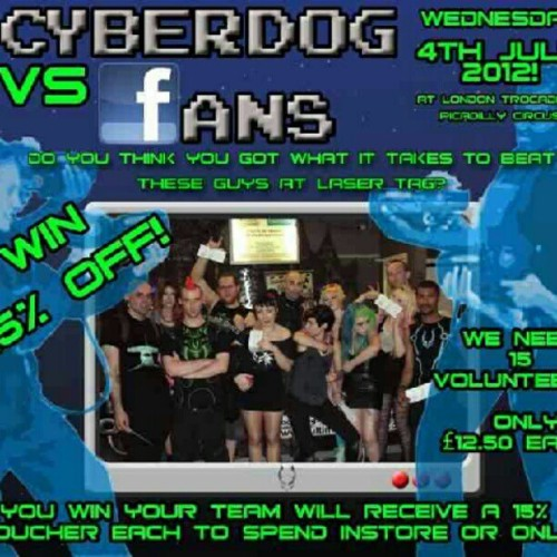 #july #2012 #cyberdog #laser #lasers #laserquest #lasertag #competition #vs #london GET IN TOUCH OR MESSAGE STEVE BUCKLEY ON FACEBOOK IF YOU WANNA JOIN IN!! (Taken with Instagram)