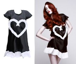 Lola Heart Nightdress/Dress in Black