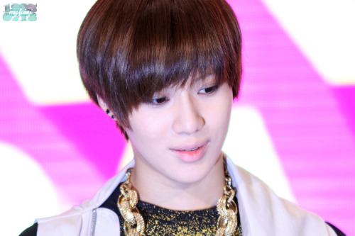 nootherbesidessuju:  120616 Etude House Fans Meeting - TaeMin [Cr: myfairy718]
