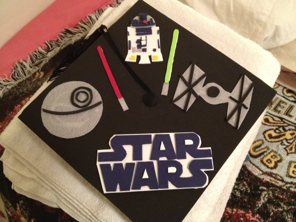 Today I graduate with a BA in Film and Media Studies. This is my cap.