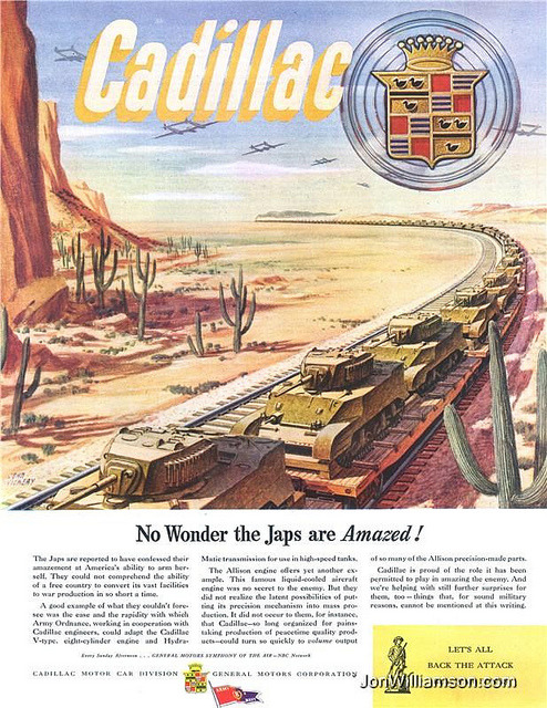 oldads:  Cadillac - 19440902 Post on Flickr.Website | Flickr | Tumblr | Twitter  No wonder they're amazed!