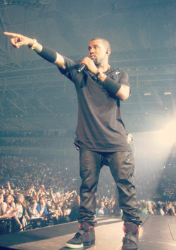 nochurchinthewildx:  Yeezy at the Watch The Throne concert 15/06/12