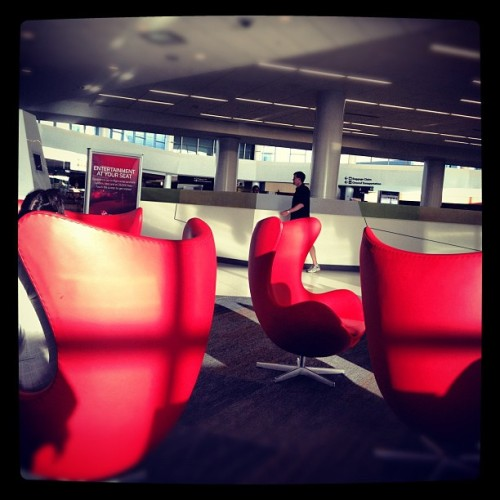 G'mornin, folks. #virginamerica #sfo @virginamerica (Taken with Instagram at Virgin America)
