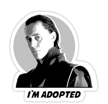 """""I'm Adopted"""" Stickers by Sammi Watson Girl"