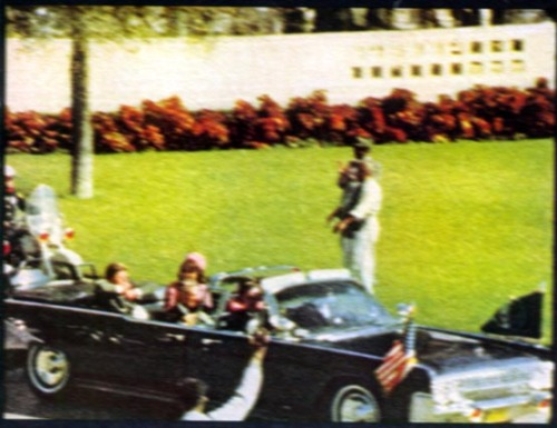 Image 1: Shows an incredibly sharp image of the motorcade taken from the Zapruder film. This image is too sharp when calculations are made about Zapruder's camera and the fact that his shutter was open almost half the time.  Image 2: Shows us what the real image should have looked like.  Image 1 was published in Life magazine as a beautiful sharp photograph, however this is impossible to capture considering the speed of the car. Either the limo and the background would have had to share some blur, or just the background and the foreground if Zapruder was keeping his steady camera perfectly focused on the limo.