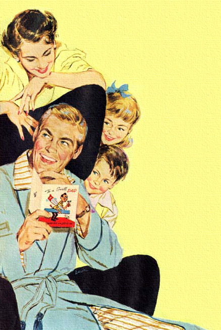 rogerwilkerson:  Happy Father's Day… detail from Gibson Card Co. ad - 1953