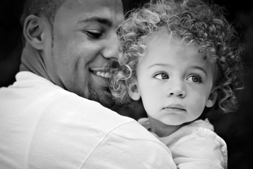 Hank Baskett and his son, Hank Jr. (African-American and Anglo-American)