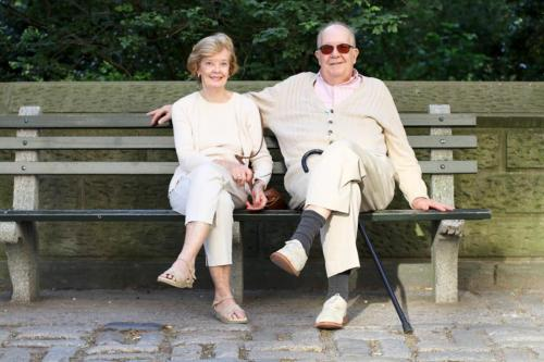 humansofnewyork:  These two were sitting along the eastern edge of Central Park, looking oh-so-complementary.  i saw an old couple sitting in central park yesterday that were so adorable and loving, they made me cry