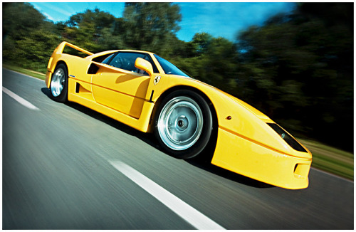 cartastic:  Yellow Ferrari F40. Photo by Dave Wragg.