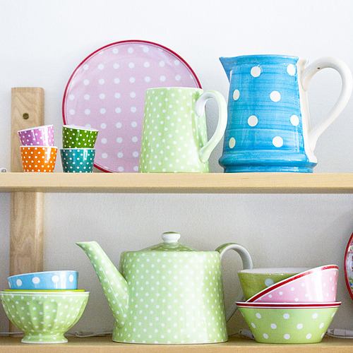 Polkadots by Craft & Creativity on Flickr.so fresh!