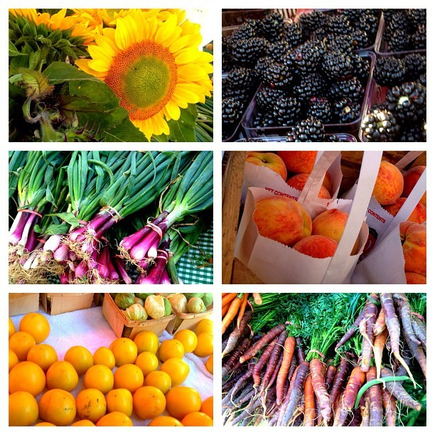 Pictures from yesterday's trip to the Farmer's Market. (Taken with Instagram)
