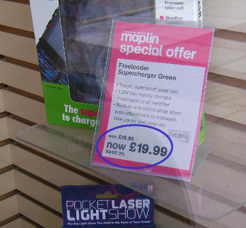 youknowyourebritishwhen:  Yeah, big saving there, Maplin.