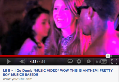 HAHA, I'm in the new Lil B video