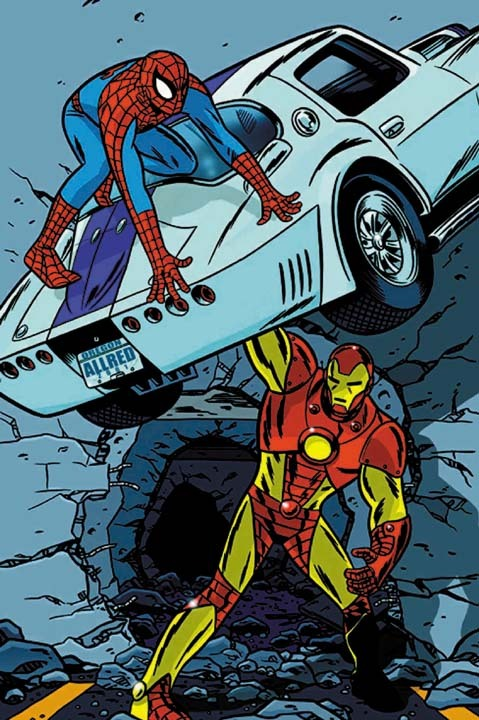 artverso:  Mike Allred - Spider-Man vrs Iron Man