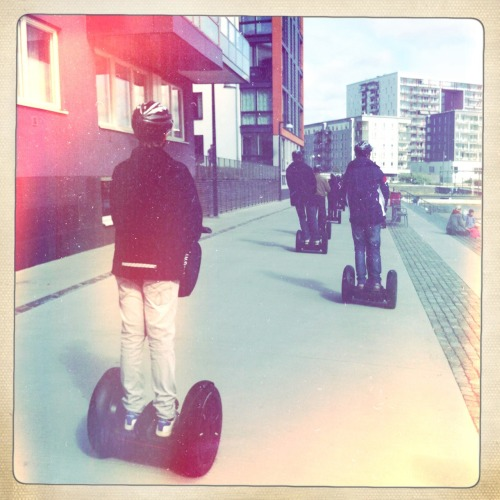Segway tour i sjöstaden. Fräscht! Bettie XL Lins, Ina's 1969 Film, No Blixt, Tagen med Hipstamatic