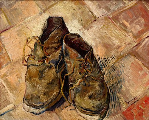 Vincent van GoghShoes, 1888oil on canvas18 x 21 3/4 inches (46 x 55 cm)Metropolitan Museum of Art, New York City